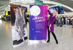Joanna Lumley unvails Heathrow's 70th anniversary plaque, Heathrow, UK, 31st May 2016